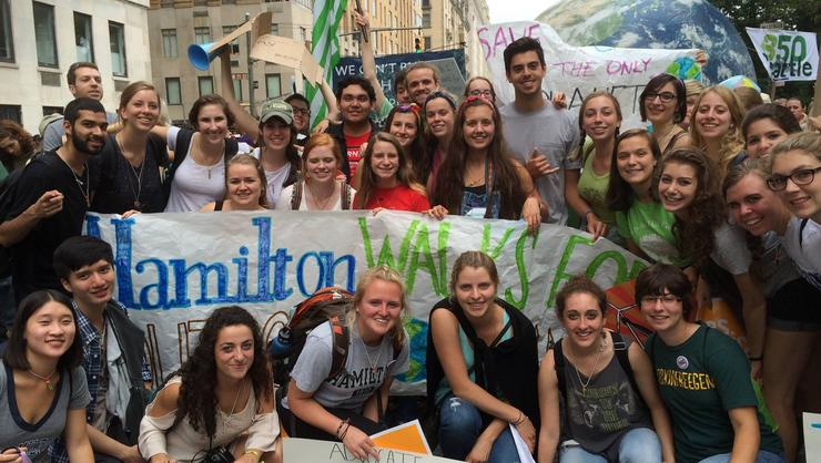 Hamilton students and alumni participated in the People's Climate March on Sept. 21.