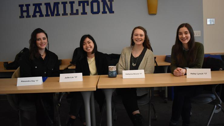 Summer 2016 communications/media interns Alexandra Gay, Julie Lin, Katherine Brouns and Haley Lynch.