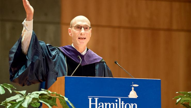 President Wippman at Convocation