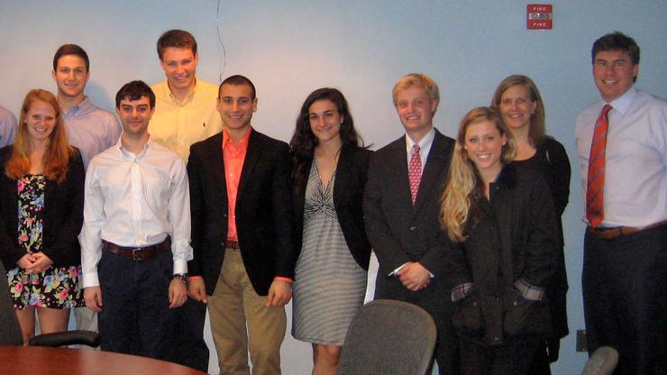 Washington D.C. students met with two alumni campaign professionals.