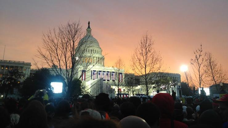 A view of the U.S. Capitol before the inauguration.