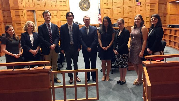 Hamilton Program in Washington, D.C., students with the Hon. John D. Bates.