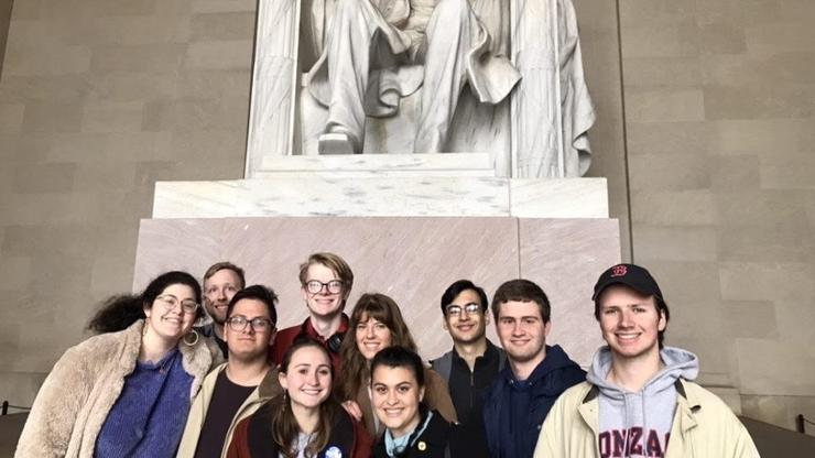 Students on the Program in Washington, D.C., for the spring 2020 semester.
