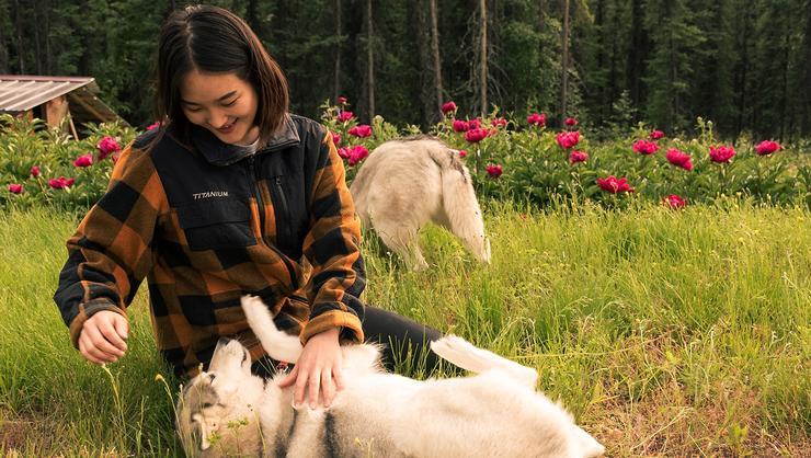 Debbie Kim '19 in Alaska.