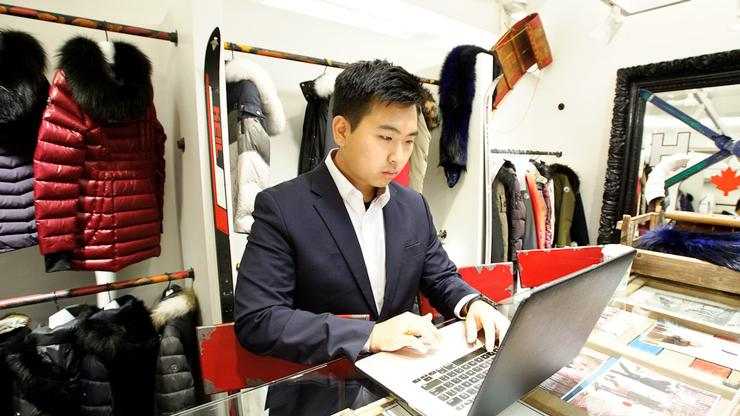 DK Lee '17 at the Levy Group in New York City.