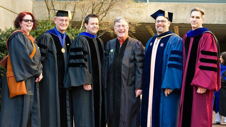 From left, Rebecca Murtaugh, Doug Weldon, Nathan Goodale, Carl Rubino, Russell Marcus and Steve Ellingson.