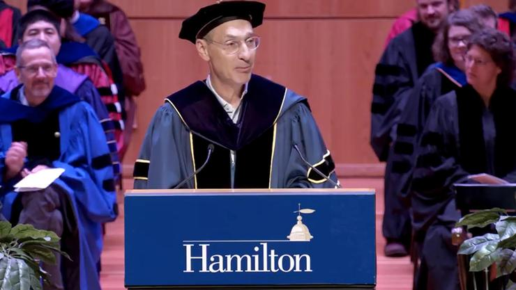 President David Wippman at the 2019 Convocation.