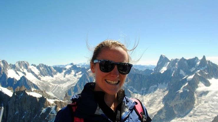 Elizabeth Collins '10 in the Alps.