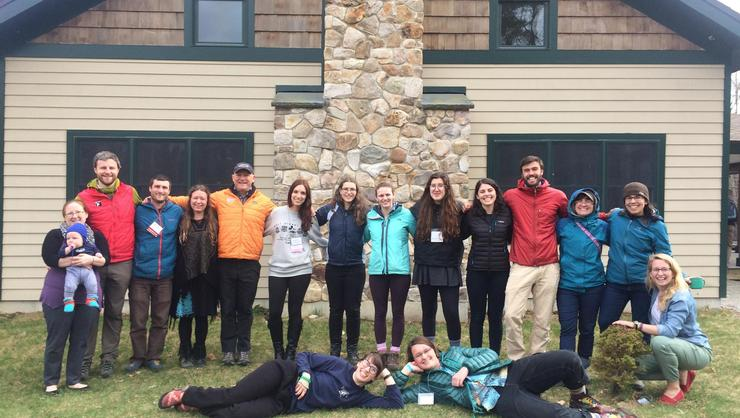 Hamilton students, alumni and staff at the Northeast Regional Association for Experiential Education Conference.