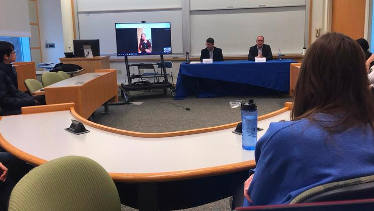 A panel sponsored by the Career Center's Connect Team gave students the opportunity to learn first-hand about the career paths of three Hamilton alumni who had one thing in common — a passion for foreign languages and cultures.