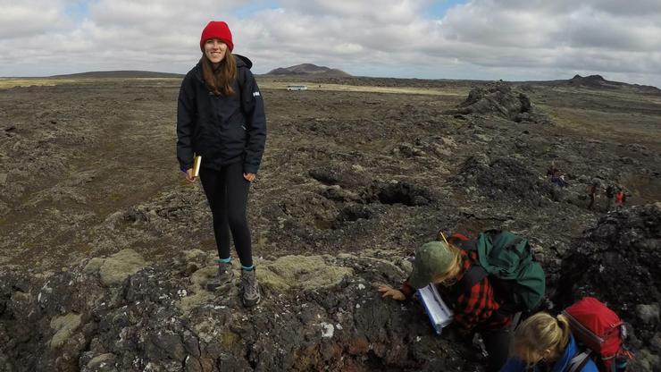 Sophie Gaulkin '17 in Iceland.