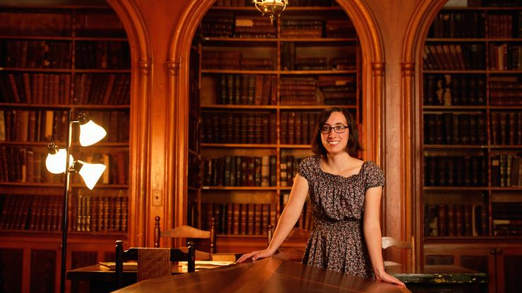 Leigh Gialanella '15 at the Oneida Community Mansion House.