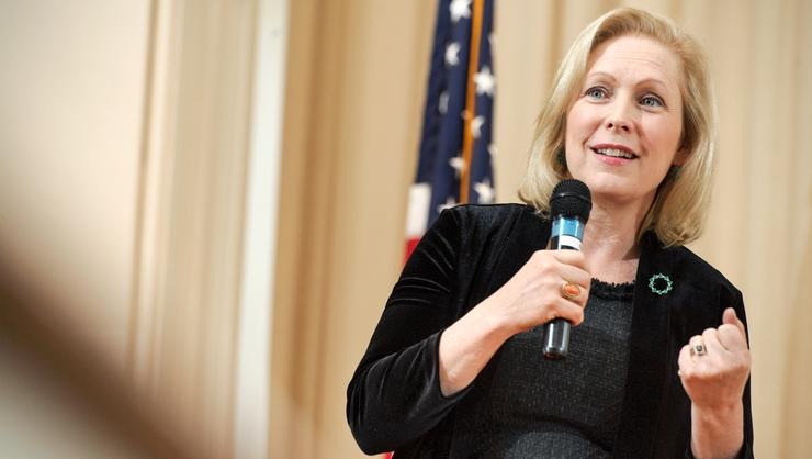 From climate change to gun control, U.S. Senator Kirsten Gillibrand responded to a range of student questions during a town hall in the Chapel.