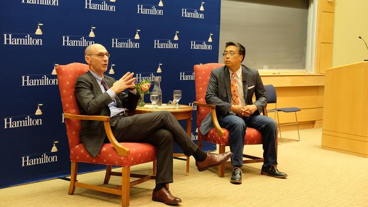 Hamilton President David Wippman and Connecticut College professor David Kyuman Kim discuss global education.