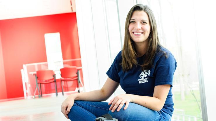 Rachel Gramlich '18 is a three-year member of HCEMS.