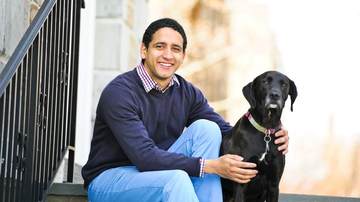 Felipe Garcia '14 and Lily.