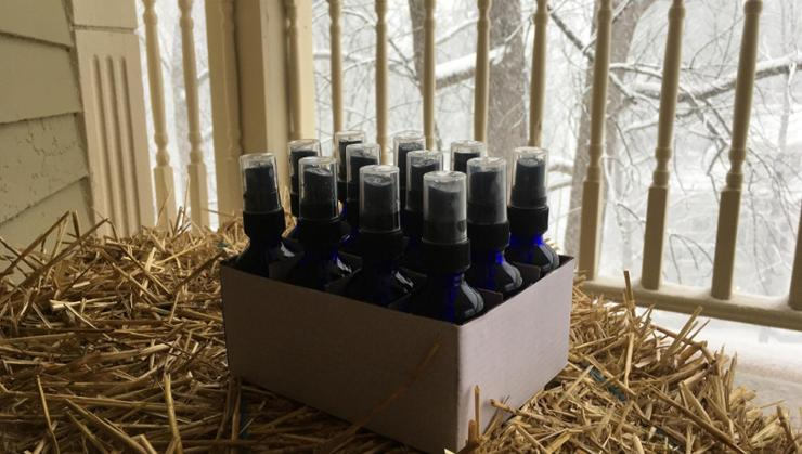 Assistant Professor of Russian Studies Jason Cieply's homemade hand sanitizers.