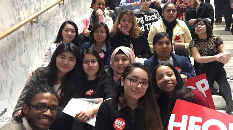 Opportunity Program students in Albany for NY Student Aid Advocacy Day.