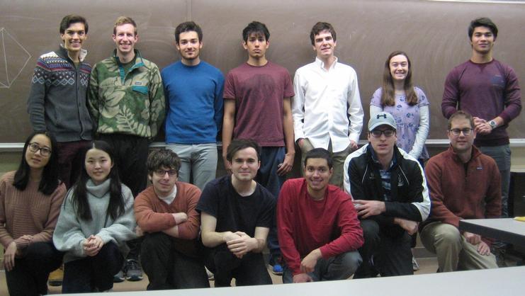 Members of Hamilton's 2017-18 Mathletics team.