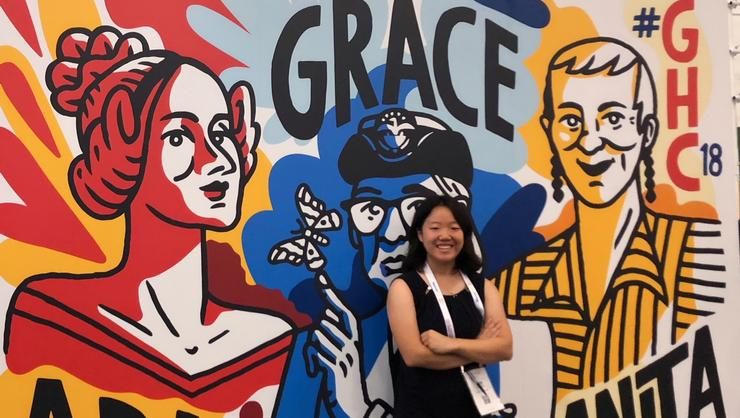 Jiin Jeong '21 at the Grace Hopper Conference