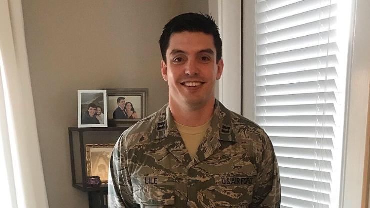 Dr. Deacon Lile '09, captain in the U.S. Air Force