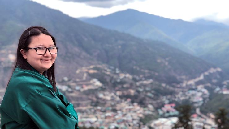 Lilly Yangchen '20 in Bhutan.