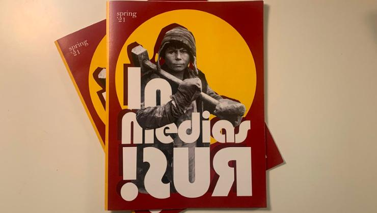 The cover of In Media Rus, produced by Jason Cieply's Literature and Revolutjon class.