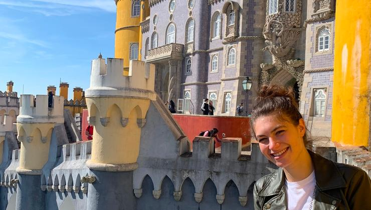 Charlotte Freed '20 visits Sintra, Portugal, during her semester in Spain.
