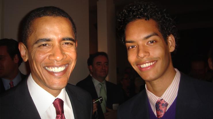 Jason Haas '07 with President Obama