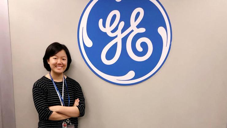 Jiin Jeong '21 interning at General Electric Power's Digital Technology Leadership Program.