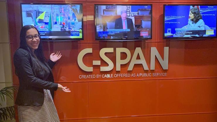 Karianna Torres '21, an intern at C-Span in Washington, D.C.