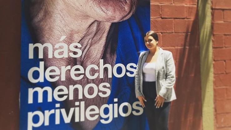 Kayla Self '21 in a neighborhood in Buenos Aires neighborhood Caballito.