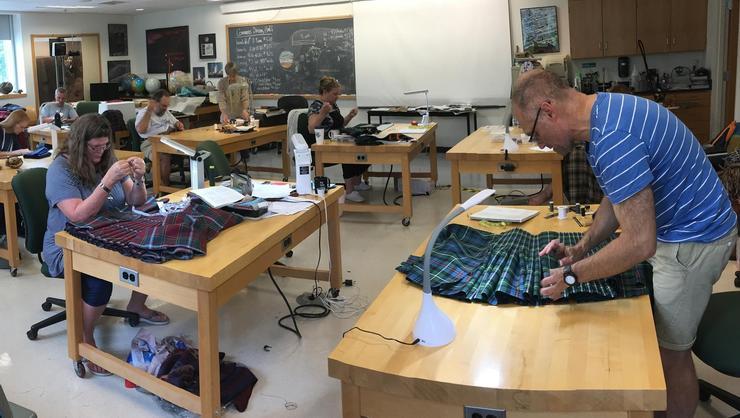 Kilt Kamp, led by Professor of Geosciences Barb Tewksbury, is underway this week at Hamilton.