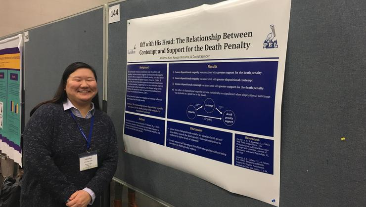 Amanda Kim '21 at the Society for Personality and Social Psychology conference.