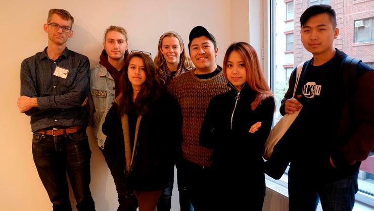 From left Professor Rob Knight, Aidan Perret '17, Kristen Keppler '19, Jessie Springer '18, Brian Maldonado '18, Mimi Do '17 and DK Lee '17.