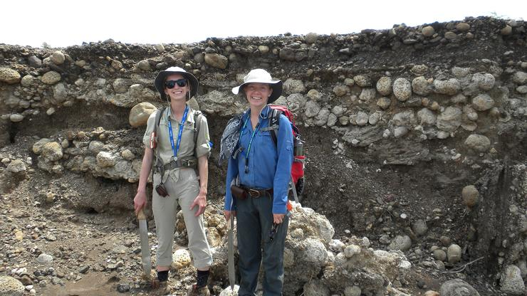 Mary Langworthy '17 and Mary Margaret Allen '17 in Kenya