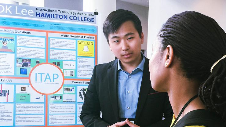 DK Lee '17 presented his work at the Northeast Regional Computing Program Conference in Providence, R.I.