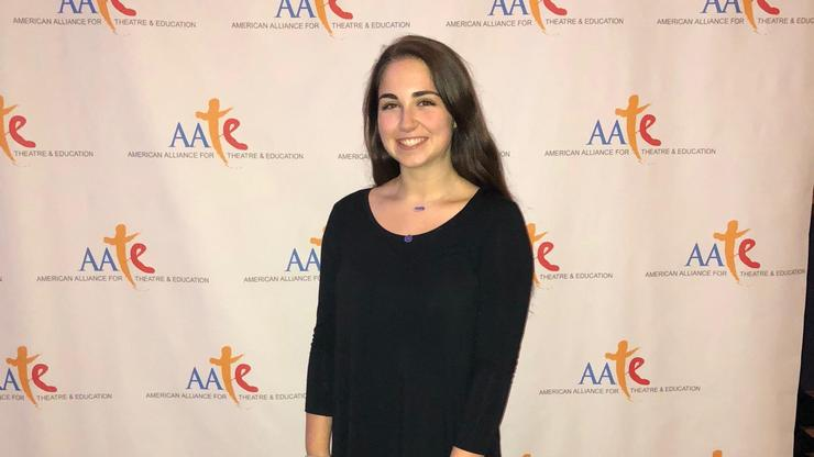 Lily Delle-Levine '21 at the AATE conference.