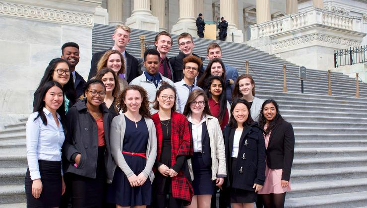 Levitt Leadership Institute participants on the steps of the U.S. Capitol.