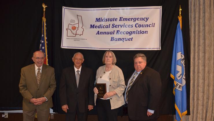Diann Lynch, HCEMS coordinator, received the Midstate EMS Nurse of Excellence award for 2017.