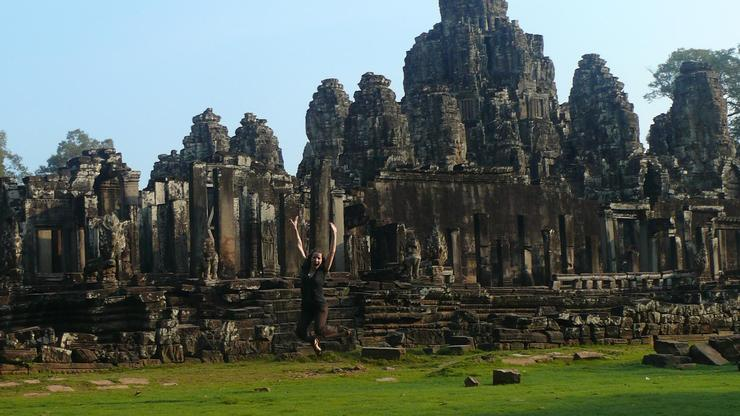 Mary Beth Day '07 on a just-for-fun visit to the Angkor temples in Cambodia, where she did research