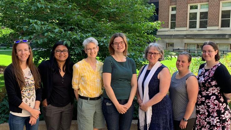 Katherine Perry (Sako University), Minerva Catral (Xavier University), Sally Cockburn (Hamilton), Michaela (Puck) Rombach, (University of Vermont), Debra Boutin (Hamilton), Lauren Keough (Grand Valley State University),and Sarah Loeb (Hampden-Sydney College).