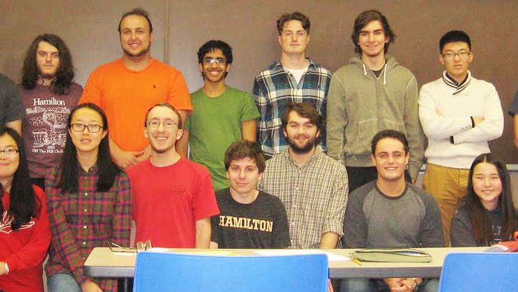 Members of the 2015 Mathletics Team. (Missing from photo Yongzheng Liang and Andrew Smith)