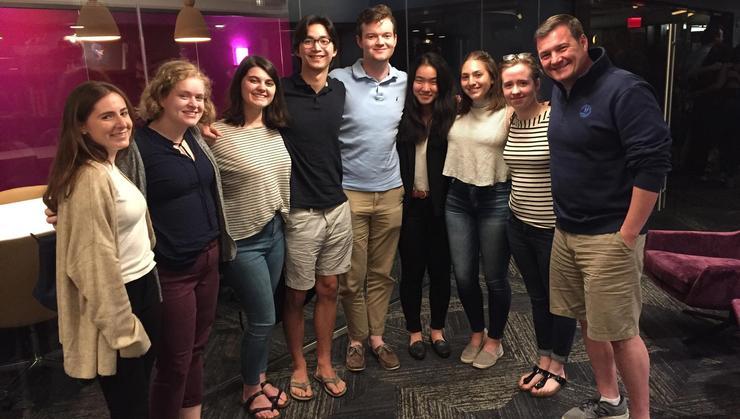 Hamilton Program in Washington,D.C., students with Matthew Zeller '04.
