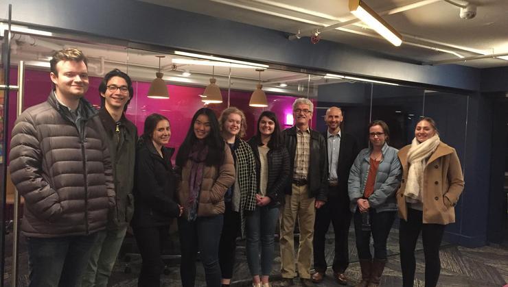 D.C. Program students and Professor Steve Orvis with Nathaniel Hurd '99.