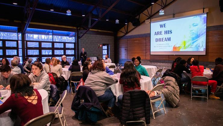 Members of the Hamilton community gather on Martin Luther King Jr. Day for an event called