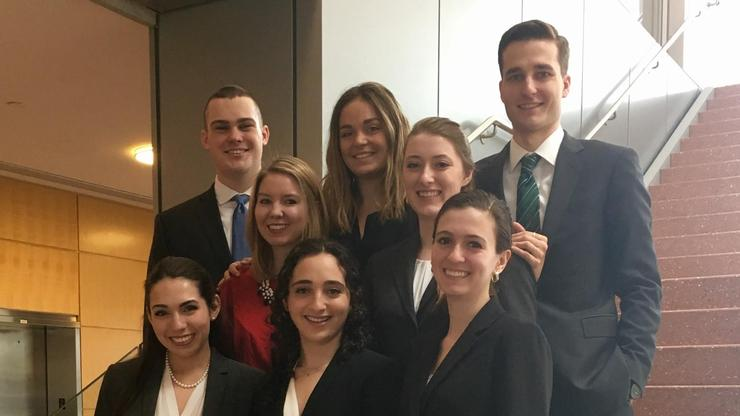 Mock Trial team members at Penn State.