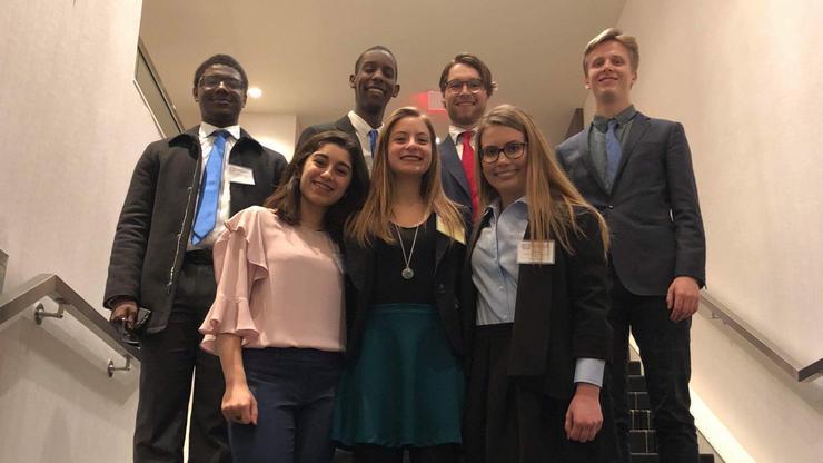 Hamilton's Model UN team at Harvard.