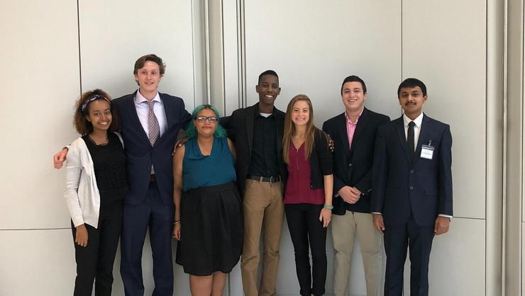 Hamilton Model UN Participants in Boston.