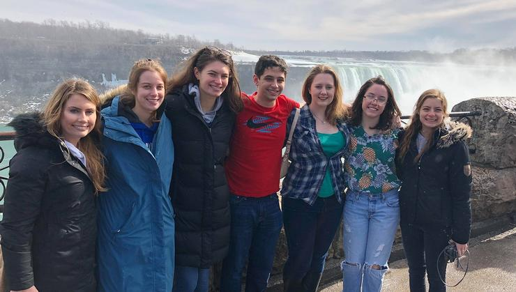 Hamilton's Model United Nations team stopped at Niagara Falls after a competition in Toronto.